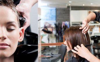 Mytí, regenerace, střih, foukaná a finální styling pro jakoukoliv délku vlasů.