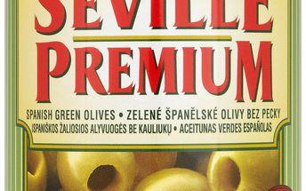 Seville Premium Seville Premium Zelené španělské olivy bez pecky 350g