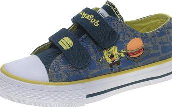 Chlapecké plátěnky SpongeBob - modré