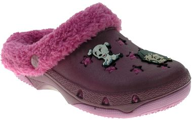 Dívčí pantofle s kožíškem Betty Boop - fialové