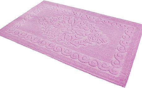 Předložka do koupelny Damask Pink, 60x100 cm