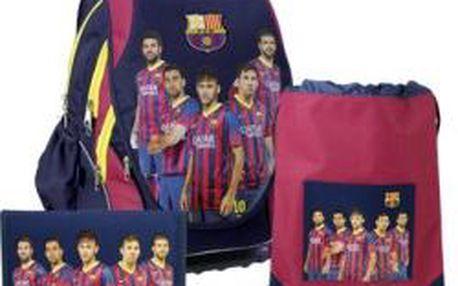SUNCE ABB Set FC Barcelona anatomický školní batoh