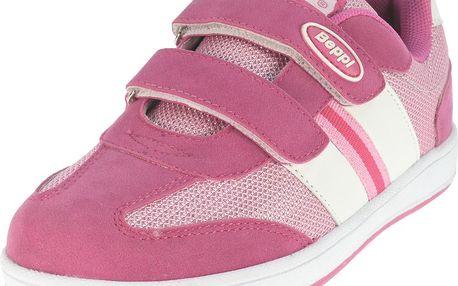 Dívčí tenisky s pruhy - růžové