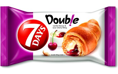 7 Days 7 Days Double Croissant s vanilkovou a višňovou náplní 60g