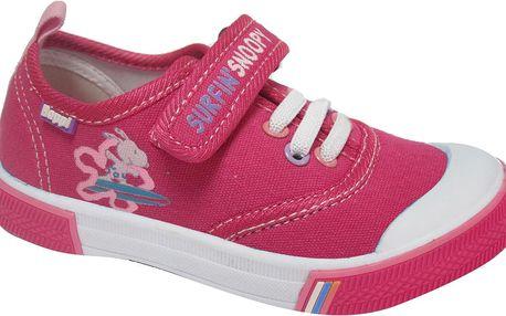 Dívčí plátěnky Snoopy - růžové