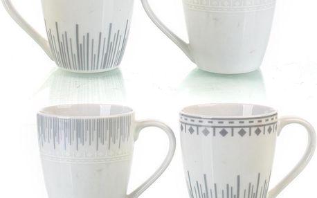 Sada 4 porcelánových hrnků Eva, 330 ml
