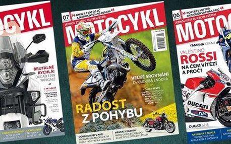Roční předplatné časopisu MOTOCYKL+ BONUS