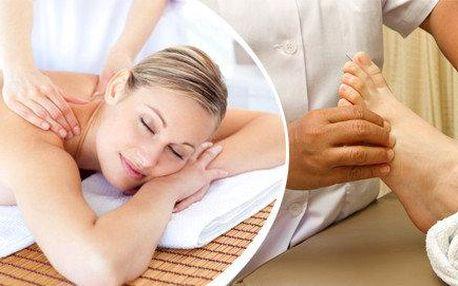 Reflexní masáž plosky nohou + masáž zad a šíje( 60 minut relaxace)