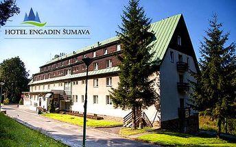 Babí léto na Šumavě pro dva v Hotelu Engadin s polopenzí a saunou + dítě do 3 let ZDARMA
