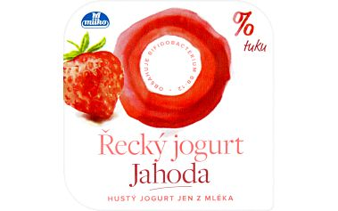 Milko Milko Řecký jogurt 0% jahoda 140g