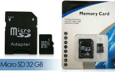 Micro SD paměťová karta 32GB jen za cenu 249Kč!