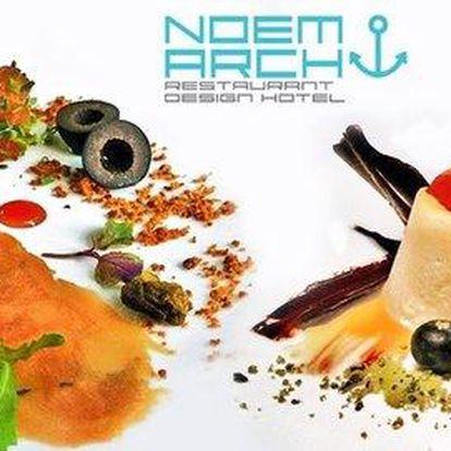 Letní degustační menu o 5 chodech v Noem Arch