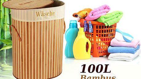Bambusový koš na prádlo (100 l) s poštovným zdarma