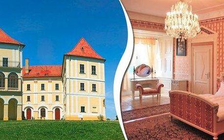 Romantická noc v zámeckých apartmánech Letovice