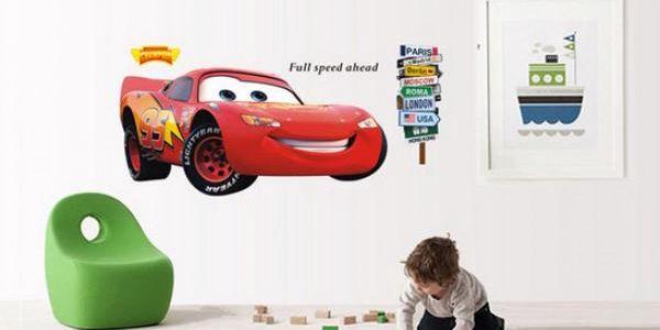 Samolepka na zeď Blesk McQueen!