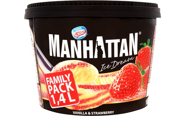 Nestlé Manhattan Ice Dream Vanilka-jahoda mražený krém 1400ml