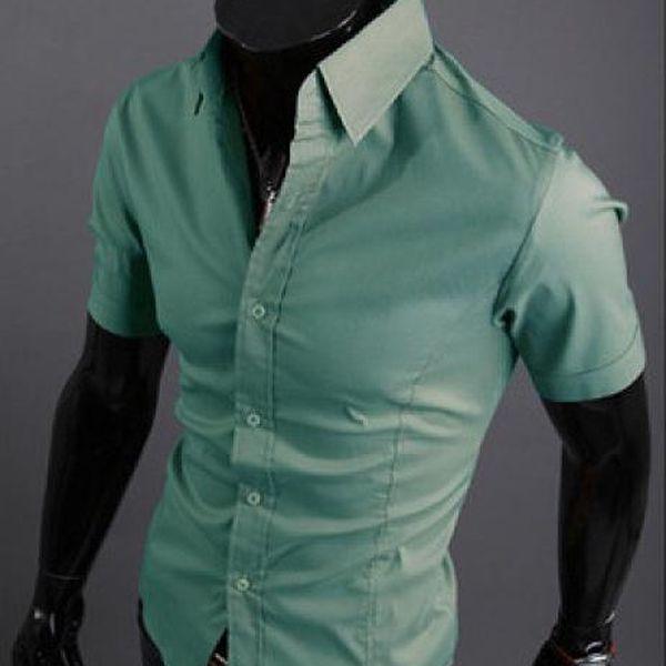Pánská slim fit košile s krátkým rukávem Luxury!