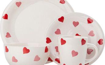 Porcelánový set Hearts, 16 ks
