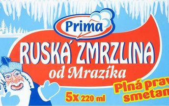 Prima Prima Ruská zmrzlina od Mrazíka 5 x 220ml