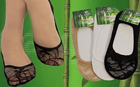 20 párů ponožek do balerínek z 95% přírodního materiálu
