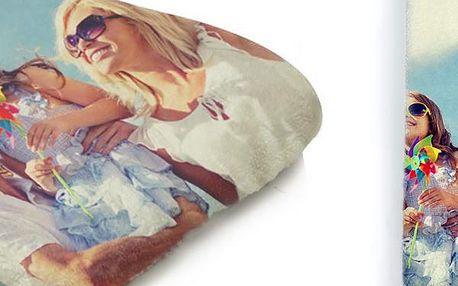 Osuška a ručník s vlastní fotografií, odolný materiál, kvalitní tisk, dlouholetá životnost barev.
