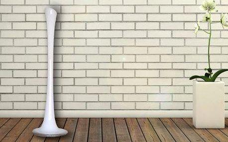 Originální ručně dělaná skleněná váza v bílé barvě