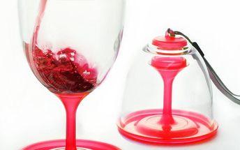 Sada skleniček na víno Stack N' Go Vino, červená