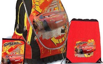 SUNCE ABB Set Disney Cars anatomický školní batoh