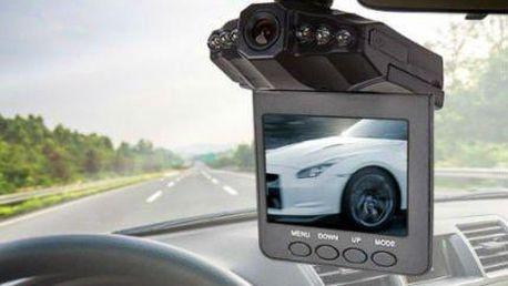 HD DVR 2,5palcová kamera do auta s nočním viděním