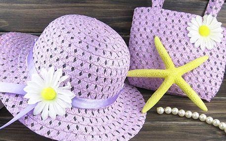 Sada klobouku a kabelky pro malé slečny