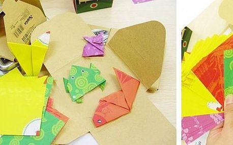 SADA ORIGAMI papírů ( 60 kusů) z kterých můžete složit 4 různá zvířátka v několika snadných krocích s předtištěnými ohyby!