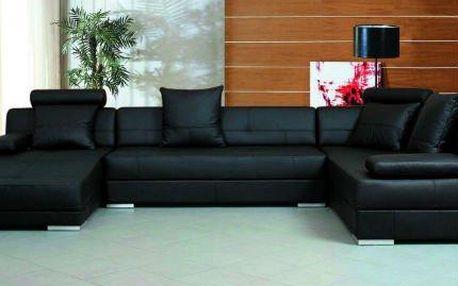 Luxusní sedací souprava BARETTA z kůže a eko kůže