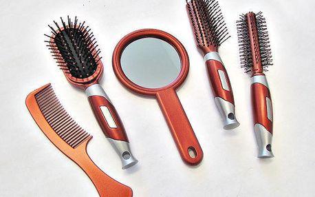 Kompletní sada na úpravu vlasů červená