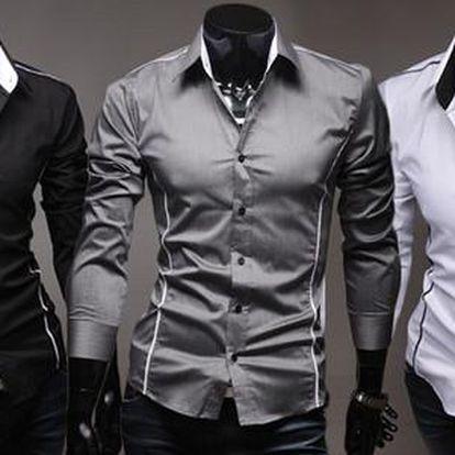 Stylová pánská slim-fit košile