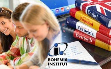 4 nebo 8měsíční JAZYKOVÝ KURZ od BOHEMIA INSTITUT! Výběr ze 7 jazyků včetně češtiny pro cizince!