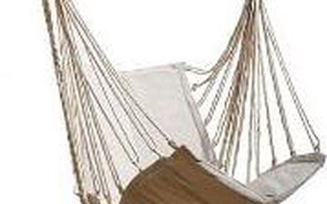 Závěsné houpací křeslo s podnožkou na zahradu nebo do bytu