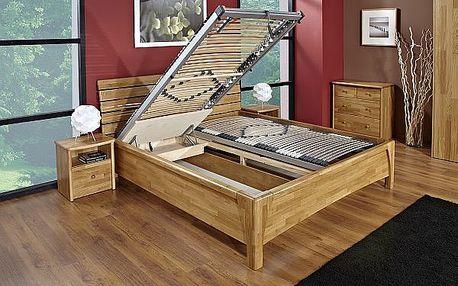 Celomasivní rám postele s čelem