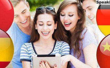 Němčina, Francouzština, Španělština, Čínština – online kurz