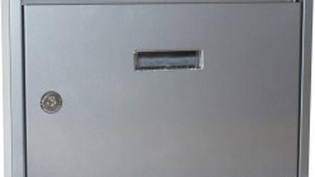 Poštovní schránka paneláková 320x240x60 mm, šedá bez děr