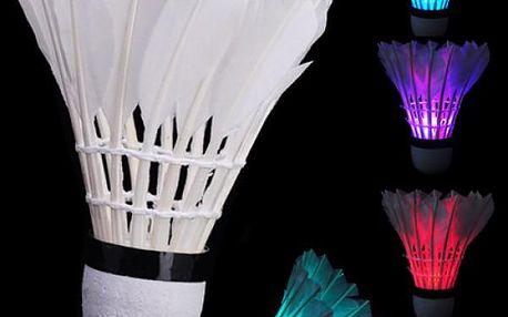 Badmintonový péřový míček s LED světlem