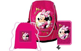 Školní batoh, penál a taška na tělocvik - SUNCE ABB Set Disney Minnie