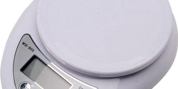 Kuchyňská digitální váha s LCD displejem - bílá