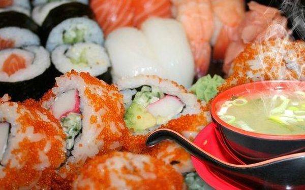Running sushi nebo sety z podniku Ginza na Floře
