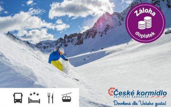 First minute lyžování v Alpách, Monte Bondone – doprava, polopenze a skipas