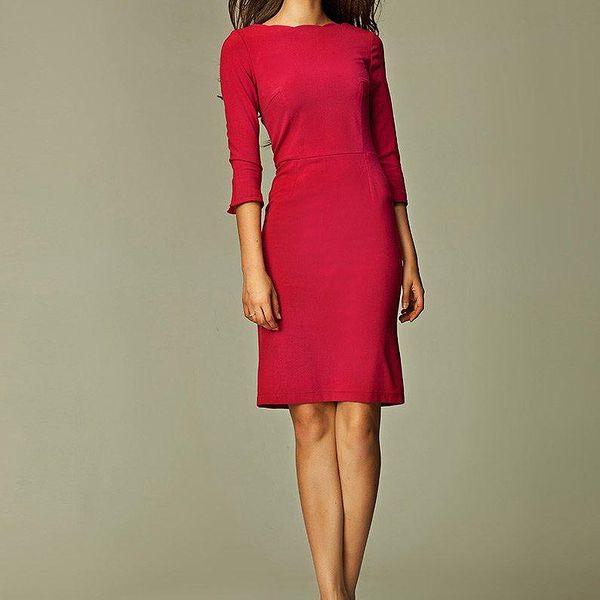 Nife Dámské šaty s30maroon