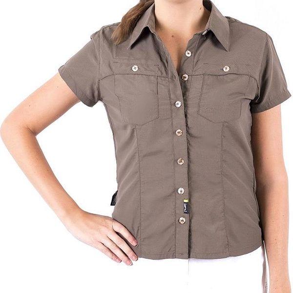 Hannah Dámská košile 109HH0079LS01, 36 , Hnědá