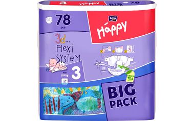 Bella HAPPY Midi Big Pack 78 ks (5-9kg)