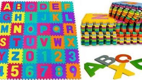 Podložka pro děti: Pěnové puzzle s abecedou a čísly