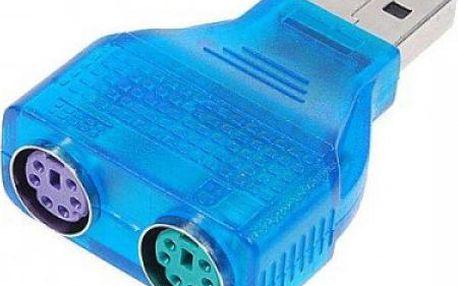 Redukce USB 2.0 na PS/2 porty