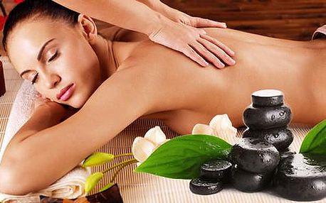Hodinová léčivá masáž s prohřátím lávovými kameny